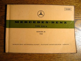 Mercedes-Benz Type 220b Parts Catalog 1959 1960 1961 1962 1963 1964 1965... - $93.56