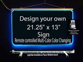 """Personalized LED, Multi-Color Changing Sign, 3/8"""" acrylic, 21.25"""" x 13"""" - $183.15"""
