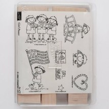 Stampin Up Girl Power Scouts Rubber Stamp Set 2002 Retired Unmounted NEW 8 Pc - $29.99