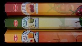 FRUIT PIE Cherry Green Apple Peach 60 HEM Incense Stick 3 Scent Sampler ... - $7.00