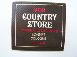 Avon Country Store Coffee Mill Decanter Sonnet Cologne 5 Fl Oz Original ... - $8.70