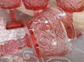 Imperial Glass Pink Champagne Glasses, Set of 4, Cape Cod Pattern in Pink  - $107.00