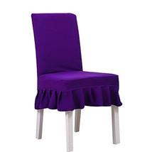 Koala Superstore Purple Seat Cloth 2 Pcs Fit Stretch Elastic Short Chair... - $19.17