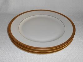 Pickard China Jefferson Pattern Gold Encrusted Dinner Plates~Set of 3 - $42.50