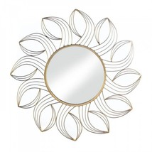 Golden Petals Wall Mirror - $48.85