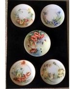 5 Empire Bavaria Rosenthal R/C Hand Painted Plates Signed McElroy Graham - $165.00