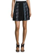Diane von Furstenberg Maison Box-Pleated Miniskirt, Peacock/Black Multi, 14 $398 - $139.99