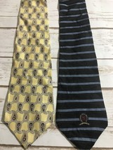 Lot Of 2 Tommy Hilfiger Mens Neck Ties Striped Paisley - $14.80