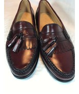 G H Bass Vintage Weejuns Mens Leather Burgundy Tassel Loafers Size US 8 D - $84.55