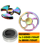 RAINBOW FIDGET SPINNER WHEEL/3-SIDDED DESIGN FOR PPL WITH AUTISM/ANXEITY... - $5.90
