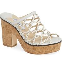 JIMMY CHOO Platform Slide Sandals Size 35.5 MSRP: $595.00 - $7.359,18 MXN