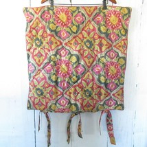 Pottery Barn Ikat Ecru Euro Pillow Sham Quilted Moroccan Tile Boho 26 x 26 - $23.08