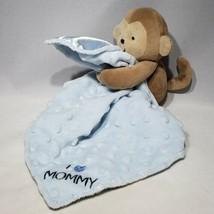 Carters Child Of Mine Plush Monkey Lovey Blue I Love Mommy Minky Dot Bla... - $14.95