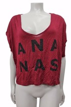 Bcbg Generation ANANAS Graphic Crop Top Dark Saffron size XS NWT $44 - $23.02
