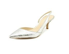 Delman Britt Women's Silver Slingback Heel Shoe... - $74.79