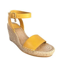 Tory Burch Laurel Leather Wedges Espadrille Sandals, Size 7 - $167.35