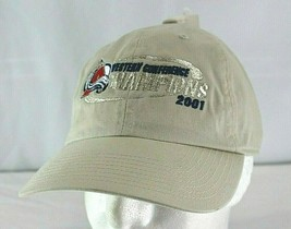 NHL Western Conference Champions 2001 Avalanche Tan/Blue Baseball Cap - $19.99