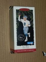 1996 HALLMARK TROY AIKMAN COWBOYS ORNAMENT WITH CARD - $8.91