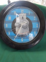 "Great Collectible COCA COLA Battery Wall Clock ""Bear"" design.....SALE - $8.32"