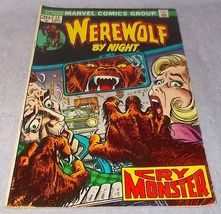Marvel Bronze Age Comic Book Werewolf by Night 1973 No 12 FN to VFN - $12.95