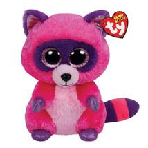 "Ty Beanie Boos Stuffed & Plush Animals Rose Red Raccoon Toy Doll 6"" 15cm - $12.00"