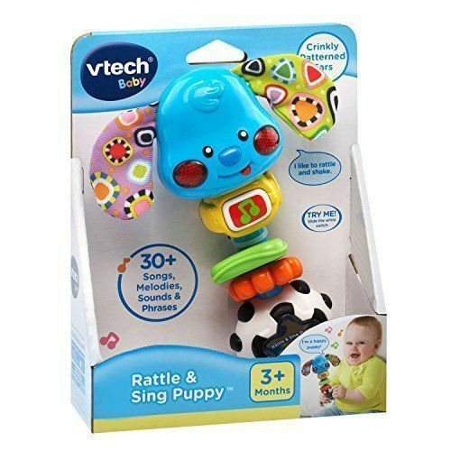 Baby Rattle Sounds Singing Puppy Songs Hand Developmental Motor Grasp Toy NEW - $32.33