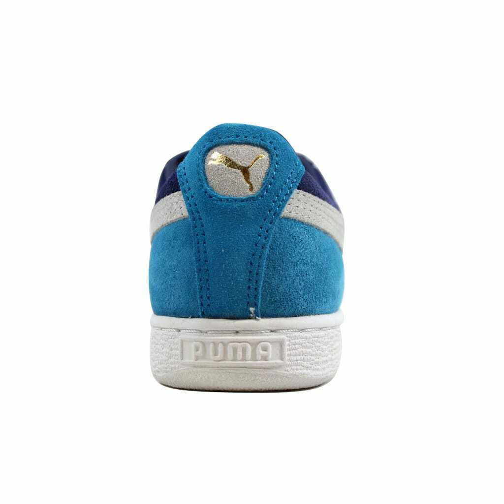 Puma Suede Classic Eco Medieval/Gray-Vivid Blue  Men's 352634 42 Size 6 Medium
