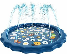 SplashEZ 3-in-1 Sprinkler for Kids, Splash Pad, and Wading Pool for Learning – C
