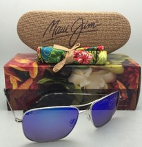 Polarized MAUI JIM Sunglasses Titanium WIKI WIKI MJ 246-17 Silver w/ Blue Hawaii