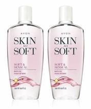 Avon skin so soft Soft & Sensual Bath Oil 16.9 fl.oz. lot 2 bottles - $39.59