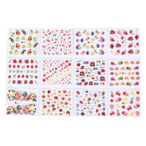 12 sheets fruits mixed nail art sticker diy watermark decals nail decors... - $1.90