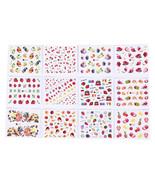12 sheets fruits mixed nail art sticker diy watermark decals nail decors... - $1.90