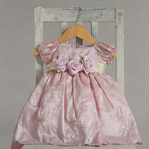 Dressy Holiday Embroidered Pastel Pink Boutique Infant Flower Girl Pagea... - $34.99