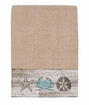 "Avanti Portland Bath Towel Embroidered Cotton 27""x50"" Crab Sand Dollar S... - $54.43"