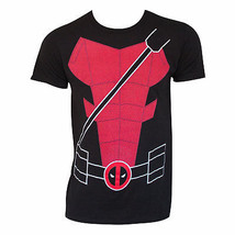 Deadpool Suit Up Costume Tee Shirt Black - $17.98