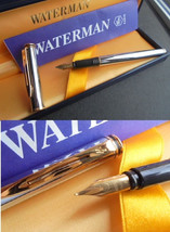 WATERMAN MAESTRO fountain pen in steel  Original in gift box with garantee - $49.00