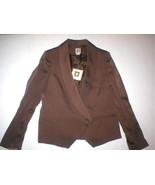 NWT $169 Nice New Womens 6P 6 Petite Anne Klein Brown Blazer Jacket Work... - $165.00