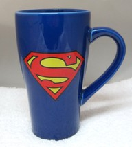 Super Man Coffee Mug Cup DC Comics Extra Tall 6 Inches Great Shape - $29.69