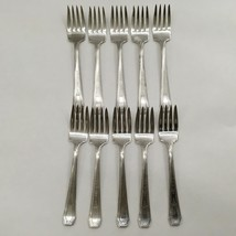 Lot of 10 SEB  E.P.N.S. Salad Forks Silverplate - $23.53