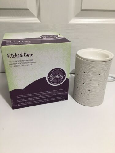 Primary image for New Scentsy Full Size Warmer Wax Melt Etched Core