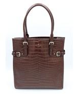 Kate Spade New York Vanston Brown Croc Leather Jackson Tote Shoulder Bag... - $228.00