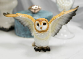 Realistic Woodlands Wildlife Common Barn Owl Bird Spreading Its Wings St... - $20.99