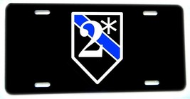 Thin Blue Line K9 Canine Two Ass To Risk Aluminum License plate - $13.81