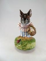 1977 Beatrix Potter Mrs Tittlemouse Music Box Figurine Schmid Its a Smal... - $34.64