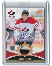 2016 Upper Deck Team Canada Juniors Patch Auto Hayden Fleury #118 42/199 (B9) - $9.78