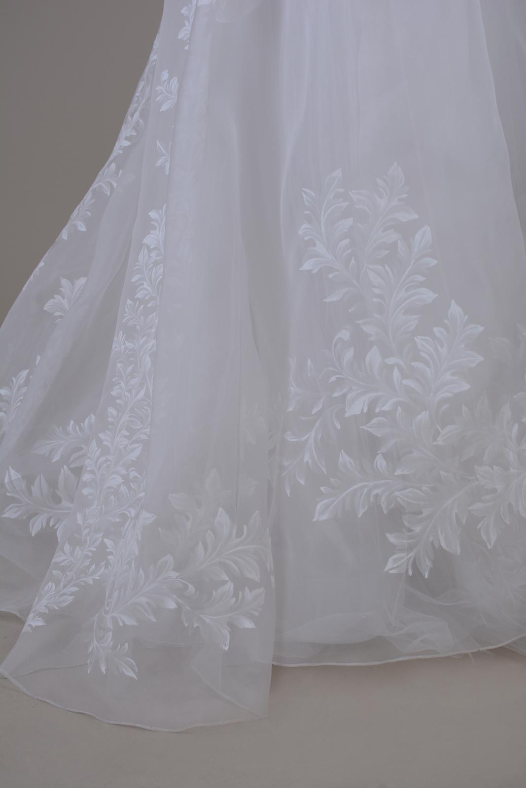 Hand painted wedding dress ; Bridal ; Unique gown