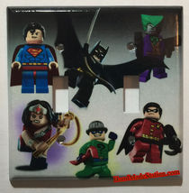 Lego Superhero Characters Light Switch Power Outlet Wall Cover Plate Home Decor image 5