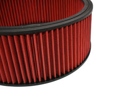 """HIGH FLOW WASHABLE & REUSABLE ROUND AIR FILTER ELEMENT REPLACEMENT 14"""" X 5"""" RED image 6"""