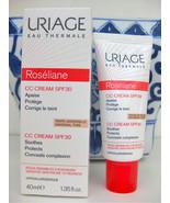 URIAGE ROSELIANE CC Cream SPF30 40ml Anti-Redness TINTED, Exp 2020 - $26.72