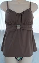COCO REEF TANKINI & REVERSIBLE HIGH WAISTED/ROLL OVER BOTTOM,SIZE 32C/SMALL image 2